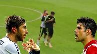 YouTube: Sergio Ramos y Diego Costa se 'pelearon' en los entrenamientos de España