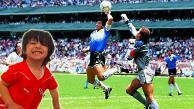 YouTube: el nieto de Maradona hizo 'La Manito de Dios' para anotar un gol