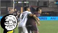 Youtube: jugador argentino reedita la polémica acción de Jara ante Cavani