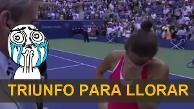 Youtube: derrotó a Serena Williams y se emociona ante cámaras