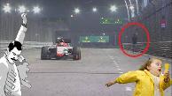 Youtube: Hombre invadió pista en la Fórmula 1 de Singapur