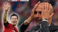 Robert Lewandowski: así reaccionó Guardiola con el repóker de su delantero