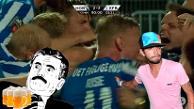 YouTube: jugador danés empata el partido de penal y celebra con una cerveza