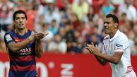 Sin Lionel Messi, Barcelona no pudo con Sevilla y perdió 2-1 de visita