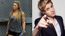 YouTube: Ronda Rousey quiere enfrentarse al cantante Justin Bieber