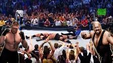 YouTube: el día que Brock Lesnar y The Big Show rompieron el ring de la WWE