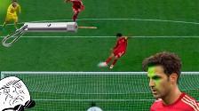 YouTube: Cesc Fábregas falló un penal en su partido 100 con España
