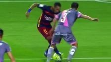 YouTube: Neymar y la huacha que provocó un penal para Barcelona