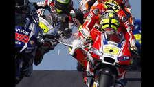 YouTube: piloto atropelló a una gaviota en plena carrera de MotoGP