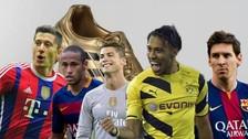 YouTube: Lewandowski y Aubemayang por encima de Ronaldo y Messi para Bota de Oro