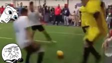 YouTube: Ronaldo Nazario dejó en ridículo a joven jugador con una increíble huacha