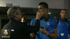 YouTube: Cristiano Ronaldo y Florentino Pérez discutieron frente a cámaras