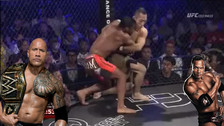 YouTube: peleador de MMA usó la llave que hizo famoso a The Rock en WWE