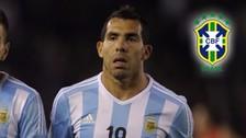 Argentina vs. Brasil: Carlos Tévez se sumó a las bajas de Messi y Agüero