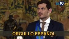 Iker Casillas recibió condecoración al Mérito Deportivo en España