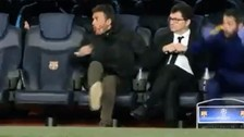 YouTube: así reaccionó Luis Enrique al golazo de Luis Suárez