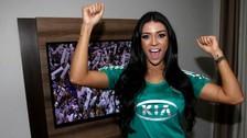 Facebook: modelo brasileña se desnudó para celebrar título del Palmeiras