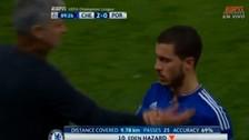 YouTube: Eden Hazard le bajó la mano a José Mourinho