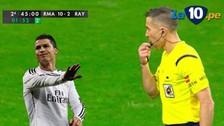 Real Madrid goleaba por 10-2 al Rayo Vallecano y el árbitro adicionó minutos