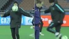 YouTube: Luis Enrique lució su habilidad en entrenamiento del Barcelona