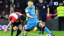 YouTube: Andrés Iniesta lució su habilidad en el Barcelona vs. Athletic Bilbao