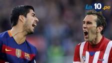 YouTube: Luis Suárez provocó la expulsión de Diego Godín en el Barcelona vs. Atlético