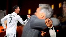 YouTube: Cristiano Ronaldo se emocionó al reencontrarse con Carlo Ancelotti