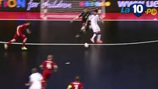 Video: italiano anotó un golazo de taco en la Eurocopa de futsal