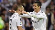 Cristiano Ronaldo y Karim Benzema destruyen a la defensa de Real Madrid en práctica