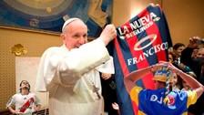 Twitter: el Papa Francisco hizo una travesura con un hincha de Boca Juniors