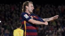 La extraña celebración de Iván Rakitic con el Barcelona