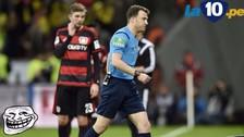 YouTube: árbitro abandonó el Bayer Leverkusen-Borussia Dortmund en pleno partido