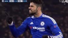 Chelsea vs. PSG: Diego Costa le 'rompió' cintura a Thiago Silva y convirtió un golazo