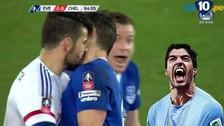 Diego Costa fue expulsado del Everton-Chelsea por morder el cuello al rival