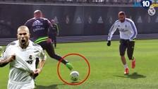Zinedine Zidane y Karim Benzema hicieron 'diabluras' en prácticas del Real Madrid