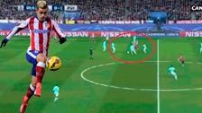 Video: Antoine Griezmann se lució en el medio campo con jugada
