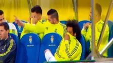Video: Jugadores del Real Madrid provocaron mal olor en la banca de suplentes