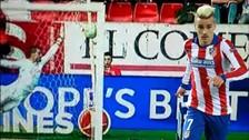 Antoine Griezmann marcó un golazo de tiro libre con el Atlético de Madrid