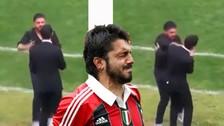 Video: Gennaro Gattuso agredió a su asistente mientras dirigía un encuentro