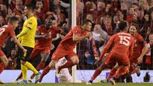 Liverpool eliminó a Borussia Dortmund en un épico partido en la Europa League