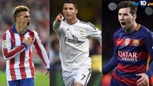 Barcelona, Real Madrid y Atlético Madrid luchan por la Liga BBVA