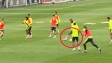 Real Madrid: Karim Benzema quiso imitar a Marcelo en los entrenamientos