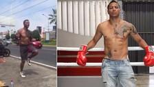 Jonathan Maicelo y su insólito entrenamiento en plena calle [VIDEO]