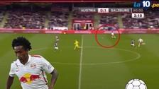 YouTube: Yordy Reyna marcó golazo de media cancha con Red Bull Salzburgo