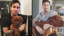 Messi y Antonella Roccuzzo: el antes y después de la mascota de su familia