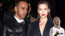 Irina Shayk, ex novia de Cristiano Ronaldo, se lució con Lewis Hamilton [FOTOS]