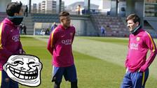 YouTube: Neymar festejó ante Messi de una manera insólita