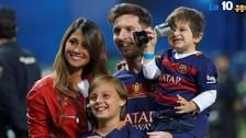 Lionel Messi fue felicitado por Antonella Roccuzzo con tierna imagen