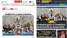 Real Madrid campeón de la Champions League: estas portadas generó en el mundo