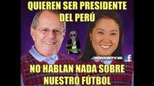Facebook: Keiko Fujimori y Pedro Pablo Kuczynski en memes futboleros